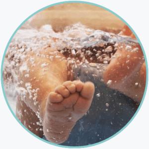 float sessie bij de baby spa