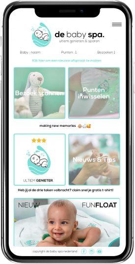 homepagina de baby spa app nieuw